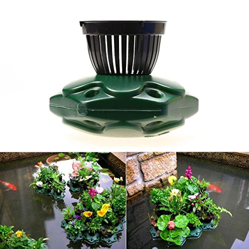 G&B Aquaponics Floating Pond Planter Basket Kit - Hydroponic Island Gardens Features