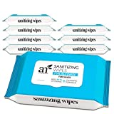 Artnaturals Cleansing Wipes - (8 Pack x 50CT), 75% Alcohol Hand Sanitizing, Unscented, Travel Size, Cleaning Wet Wipe, Disposable