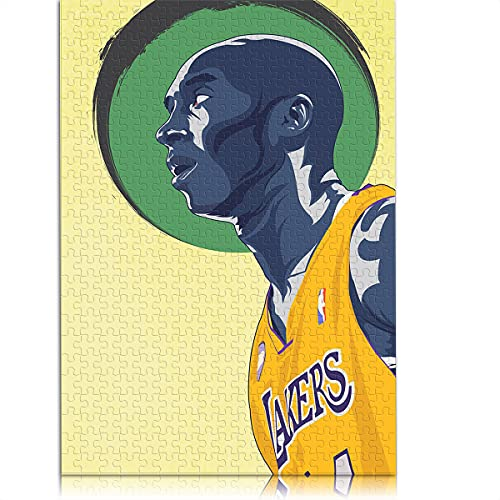 1000 Piezas de Rompecabezas clásico para Adultos NBA-Basketball Star Lakers Kobe Bryant Rompecabezas para niños 38x26 cm Juego de Rompecabezas Educativo colección de Arte DIY