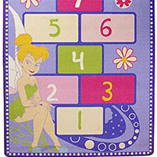 Disney Tinkerbell Rug - Fairies Hopscotch Floor Accent Mat