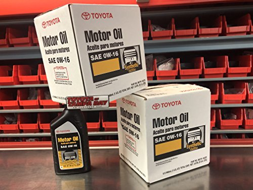 Toyota Genuine SAE 0W-16 Synthetic Motor Oil Pack of 6 (6 x 1 U.S QUART)