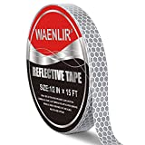 WAENLIR White Silver Flexible Reflective Tape,DOT-C2 Safety Conspicuity Tape, Waterproof Reflector Tape For Trailer,Cloth, Bicycle