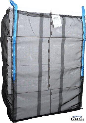 Yubi Bag 5er Pack KOMPLET MOSKITO HolzBag 100x100x120cm Boden geschlossen, Kaminholzsack/Brennholzsack/Woodbag