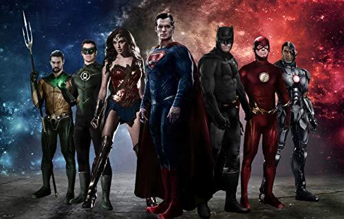 Dc Comics Justice League Carta Da Parati Supereroe Wallpaper Bellezza Amatoriale Camera Da Letto Murale (H) 400 * (l) 280cm un