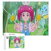 Twinkle Precure大人と子供のためのジグソーおもちゃファッションデコレーション人気のアニメーションかわいい製品木製パズルチャレンジファミリーゲーム500ピース
