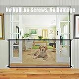 NAMYA Cerca para perros para mascotas, puerta mágica de seguridad para mascotas, puerta mágica plegable portátil de malla, protección segura para instalar en cualquier lugar