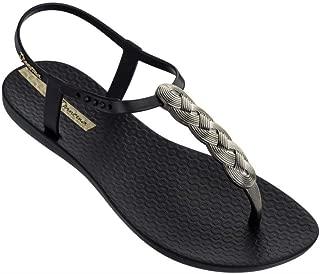 Ipanema Brasil Charm Sandal 21 Black Braid Womens T-Bar Sandals, Size 11