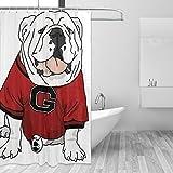 Casy Teey UGA Bulldog Boutique Shower Curtain Hooks Polyester Home Decor 54x78inch