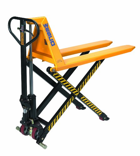 Wesco 272754 Manual High-Lift Telescoping Pallet Truck with Loop Handle, Polyurethane Wheels, 2200 lbs Load Capacity, 48-1/2' Height, 44-1/2' Length x 27' Width
