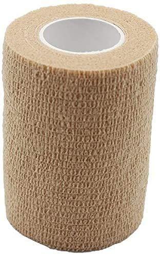 PintoMed Bendaggio Coesivo -10 x COLORE DELLA PELLE - garza elastica - 10 rotoli x 7,5 cm x 4,5 m autoadesiva flessibile bende, primo soccorso - Wrap