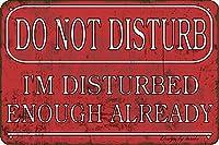 邪魔にならないでください私は十分にすでにビンテージビンテージ錫20 x 30 cm装飾アートホームホームバスルームファームの看板