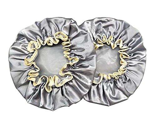 2 Pcs Gentilles dames Bonnet de douche Caps douche épais double couche Mignon #4