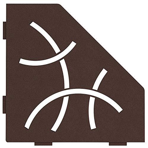 Schluter Systems Pentagonal Corner Shelf-E – Curve Design -Bronze – (SES2D6TSOB) Kerdi-Line Showe…