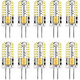 Bombillas LED G4, luz blanca fría 6000 K CA/CC 12 V 2 W (equivalente a 20 W halógeno G4) Base de dos pines tipo JC, bombilla LED G4