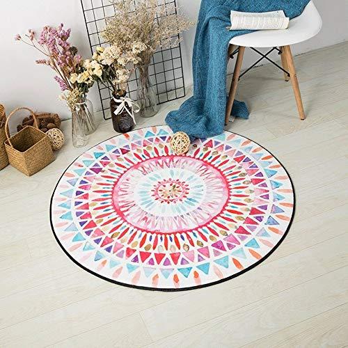 HAOMAO tapijt moderne minimalistische ronde tapijt slaapkamer opknoping mand rotan stoel kussen woonkamer kamer bed wasbaar