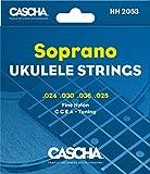 CASCHA Premium Soprano Ukulele Cordes - Ensemble à 4 cordes (G C E A)