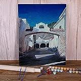 Zdklfm69 Pintar por Numeros Pintura por Números Paisaje Antigua Grecia Kit Pinturas al óleo Imagen por números Foto Decoración del hogar Niños (Sin Marco) 40x50cm