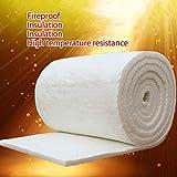 Manta de fibra de cerámica de aluminio con aislamiento de alta temperatura, fibra ignífuga para estufas de madera, chimeneas y agujas, Multicolor, Thickness: 10mm