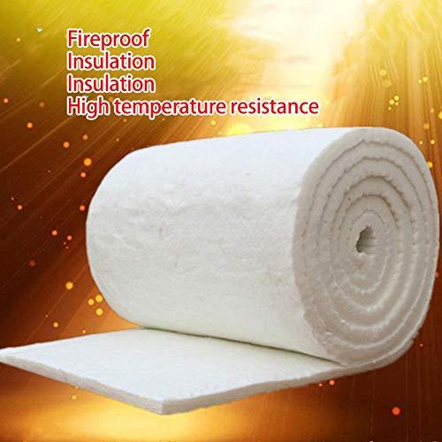 Keramikfaser-Decke, Aluminiumsilikat, hohe Temperatur-Isolierung, Faser, feuerfest, für Holzöfen, Kamine, Nadelkessel, merhfarbig, Thickness: 10mm