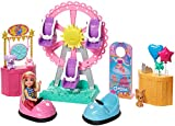 Barbie Club Chelsea Doll and Carnival Playset, 6-inch Blonde Wearing Fashion and Accessories, with Ferris Wheel, Bumper Cars, Puppy and More, Gift for 3 to 7 Year Olds