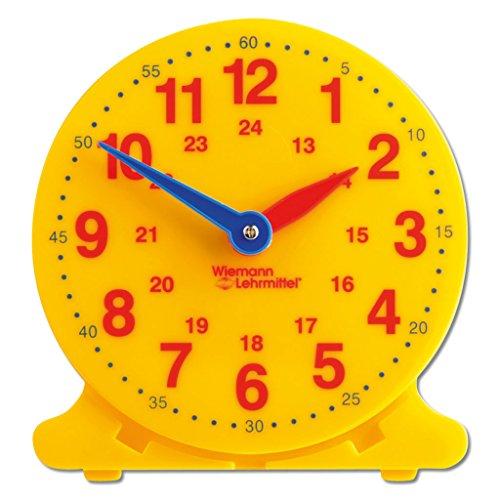 Wiemann Lehrmittel Lernuhr für Kinder, Schüleruhr, Demonstrationsuhr, 12 cm Ø
