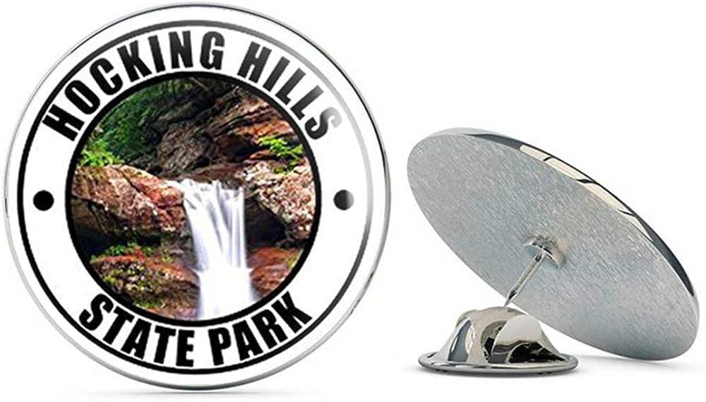 NYC Jewelers Round Hocking Hills State Park (Ohio oh Rock cave rv) Metal 0.75
