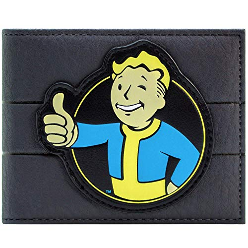 Cartera de Fallout 4 Vault Boy 111 Aprobado por Carisma Gris
