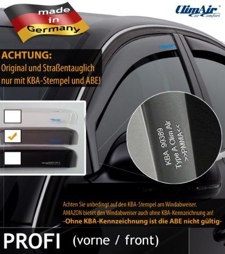 ClimAir CLI0033796 Windabweiser Profi Vorne rauchgrau