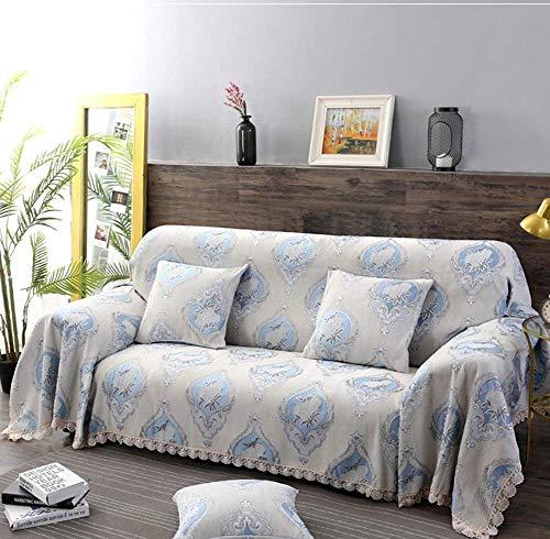 Schonbezug Sofadecke, Anti-Rutsch-Stretch Moderne Verdickung Plüsch Schlafsofa Schonbezüge mit 1 2 3-Sitzer Größe Zweisitzer