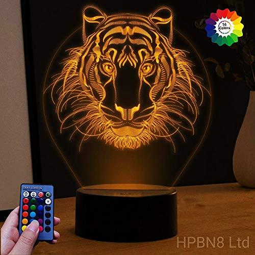 Illusions 3D Löwen Lampen Nachtlicht Fernbedienung USB Power 7/16 Farben 3D LED Lampe Formen Kinder Schlafzimmer Geburtstag