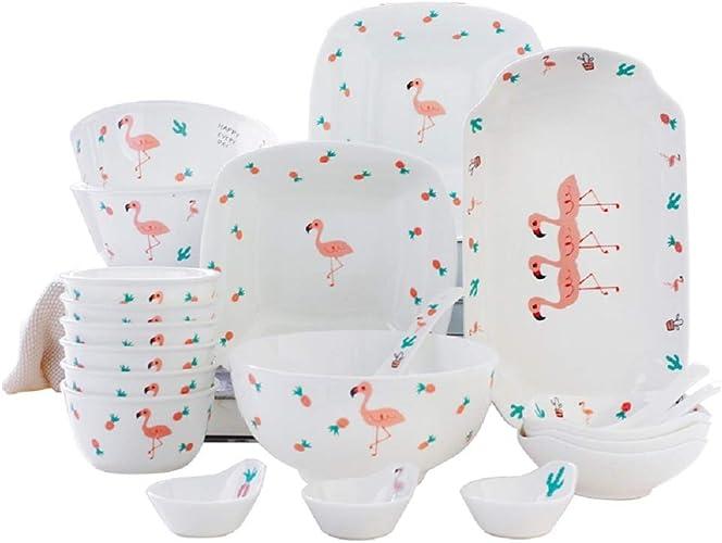 WJP Ménage Vaisselle et Vaisselle 25 pièces, Cadeau de Pendaison de crémaillère Cadeau de Mariage en Porcelaine,1,Cm