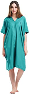 Jian Ya Na Multi-Purpose Microfiber Surf Beach Wetsuit for Women, Portable Changing Towel Bath Robe Poncho - One Size Fit All 100 * 80cm (Lake Green)
