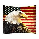 YISUMEI 150x200 cm Tapissery Tagesdecke Strand Decke Hippie Wand Hängende Dekor Amerikanische Flagge Adler