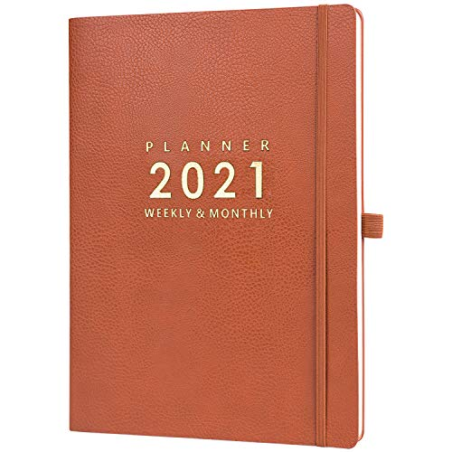 """2020-2021 Planner with Pen Holder - 8.5"""" x 11"""" Weekly & Monthly Planner with Calendar Stickers, July 2020- June 2021, Inner Pocket with 24 Notes Pages, A4 Premium Thicker Paper"""