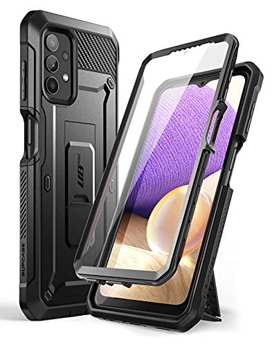 SUPCASE Outdoor Hülle für Samsung Galaxy A32 5G Handyhülle Bumper Case 360 Grad Schutzhülle Cover [Unicorn Beetle Pro] mit Integriertem Displayschutz (Schwarz)