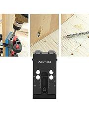 【𝐏𝐚𝐬𝐞𝐧】 Pocket Hole Jig Set voor houtbewerking, 1 set Pocket Hole Jig Set van zwarte aluminiumlegering, schuin positionering