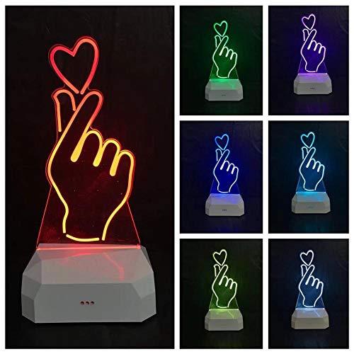 Spezial Stimmungsbeleuchtung 1 Stück 7 Farblicht 3D Kleine Tischlampe Led Baby Fütterung Von Nachtdekoration Lampe Usb-Stromversorgung-Farbenfrohes Aufladen_Liebe