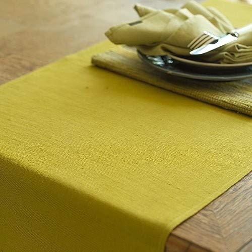 LinenMe Lara Chemin de Table en Lin Citrine, 50x140 cm