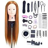 SIGHTLING 66cm Übungskopf Frisierkopf Friseur 60% Echthaar Haar Perückenkopf Puppenkopf...