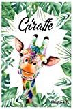 Notebook - The animal mini journal notebook for Baby, notebook for Kid 169: Giraffe_Notebook 15_ 6in x 9in x 114 Pages White Paper Blank Journal with Black Cover Perfect Size