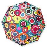 Remember Unisex– Erwachsene Rondo Taschenschirm, Bunt, geschlossen 29 cm, Ø 5,5 cm. Maße geöffnet: Länge 58 cm, Ø 100 cm