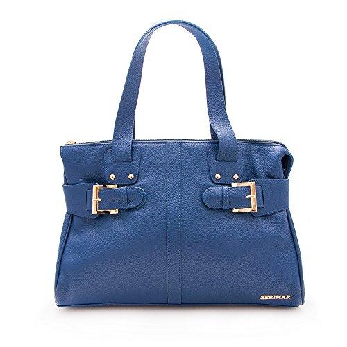 Zerimar Sac pour Femme Cuir Naturalle Premium | Sac a Main Pochette Femme | Sacoche Femme Bandouliere | Sac Femme Cuir | Couleur: Bleu Marine | Mesures: 39x26.5x11.5 cm