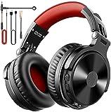 OneOdio Auricurales Bluetooth Inalámbricos 80H, Auriculares Estéreo con Cable para Juegos, Micrófono Boom para PS4, Móviles ipad PC Portátil, 50mm Controlador, Orejeras Proteicas 90° Ajustable para DJ
