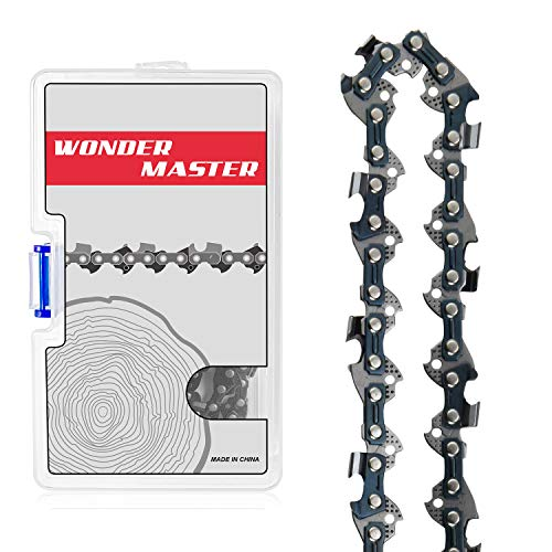 "WONDER MASTER 20 Inch Chainsaw Chains 1Pack - 3/8"" Pitch - 70 Drive Links - .050"" Gauge with Pitch Semi-Chisel Gas Powered Chainsaw Chain Fits for Echo MAKITA HOMELITE Bernard Skil"