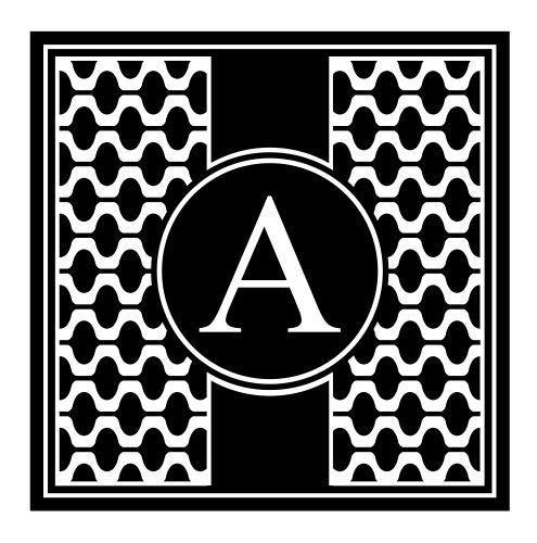 JS Artworks A Alphabet Design Monogram Family Last Name Initial Vinyl Wall Art Decal Sticker