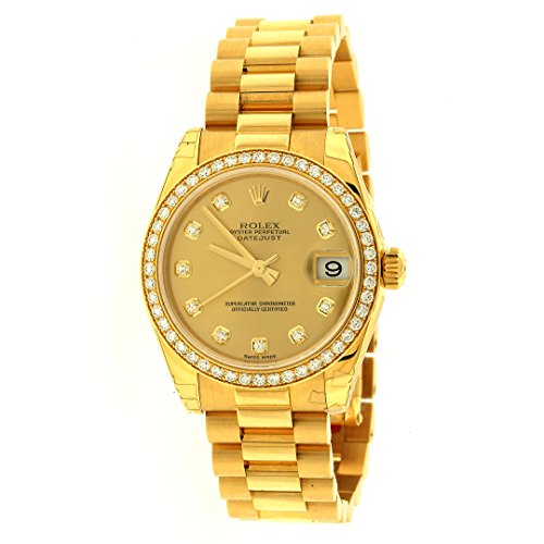 Rolex Lady Datejust Automatic White Dial 18k Yellow Gold Watch 179178WSO