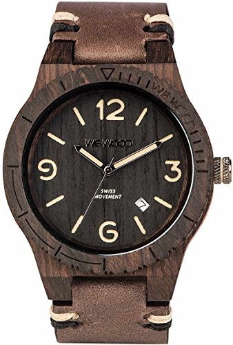 WEWOOD Herren Analog Quarz Smart Watch Armbanduhr mit Leder Armband WW08008