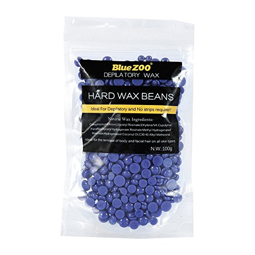 Bluezoo - Die Originalen Haarentfernung Hartwachs-Bohnen - Lavendel - Ideal für die schmerzfreie Entfernung von Bikini und Körperhaaren für allen Hauttypen - 100g (Lila)