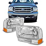 For 1999-2004 Ford Excursion F250 F350 F450 F550 Superduty OE Replacement Headlights w/Bumper Lamps Driver/Passenger