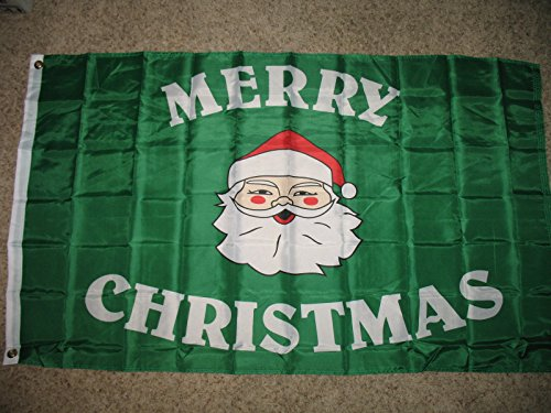3x5 Merry Christmas Santa Claus Face Horizontal Flag 3'x5' House Banner